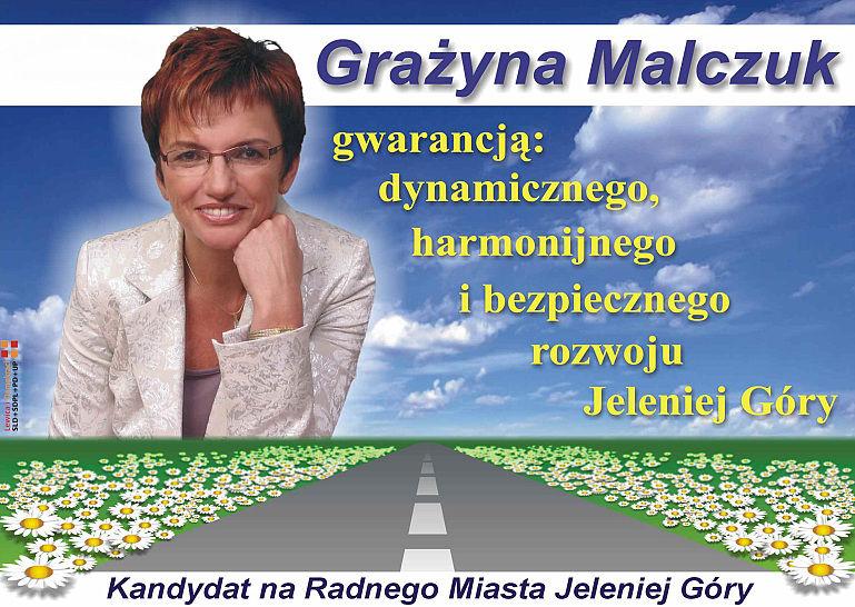 Grażyna Malczuk Plakat Wyborczy
